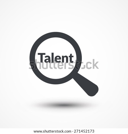 Talent investigation concept illustration design over a white background. - stock vector