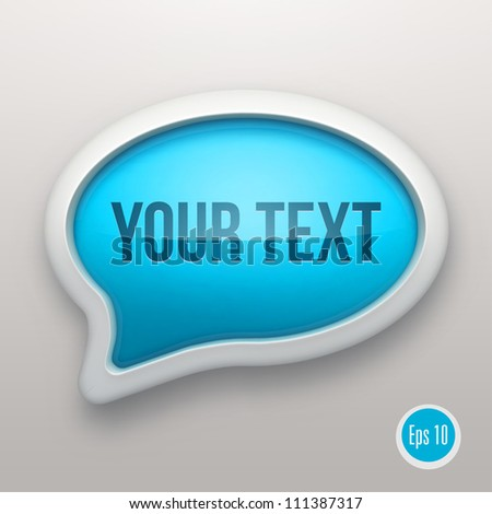 Talk bubble icon - stock vector