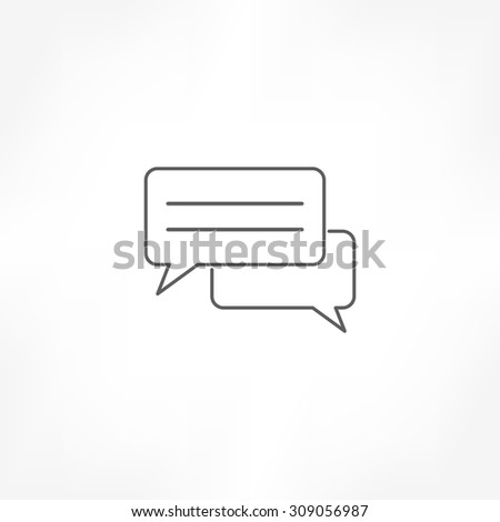 talk icon - stock vector