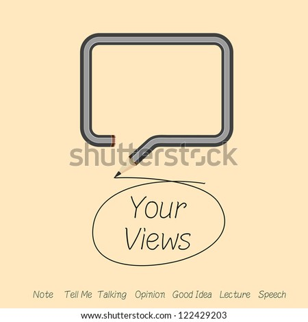 talking about your views or good idea in speech by dialog box. - stock vector