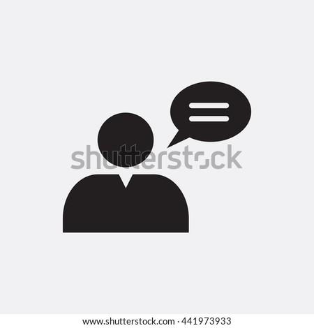 Talking man Icon, Talking man Icon Eps10, Talking man Icon Vector, Talking man Icon Eps, Talking man Icon Jpg, Talking man Icon, Talking man Icon Flat, Talking man Icon App, Talking man Icon Web - stock vector