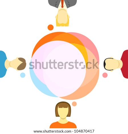 Talking people illustration - stock vector