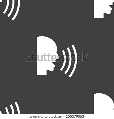 talking web icon. flat design. Seamless pattern. Vector EPS10 - stock vector