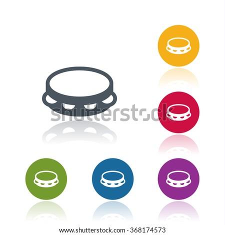 Tambourine icon - stock vector