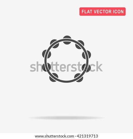 Tambourine icon. Vector concept illustration for design. - stock vector