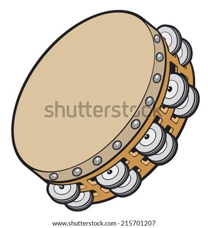 tambourine music instrument - stock vector