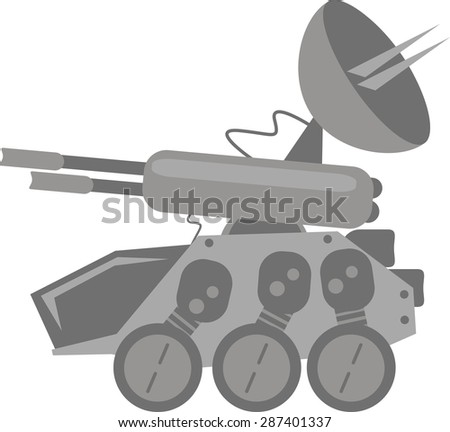 Tank for Game - stock vector