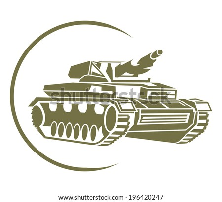 Tank Symbol - stock vector
