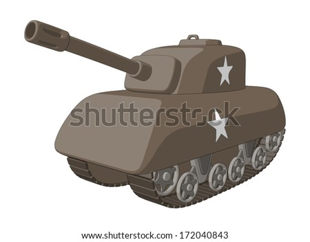 Tank (WW2) -  Vector Artwork (isolated on white background). - stock vector