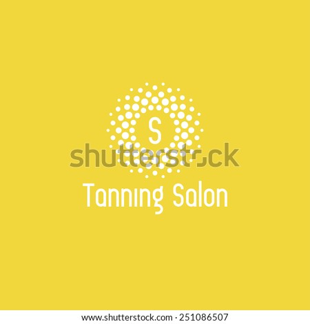 Tanning salon logo design vector template. Sun icon - stock vector