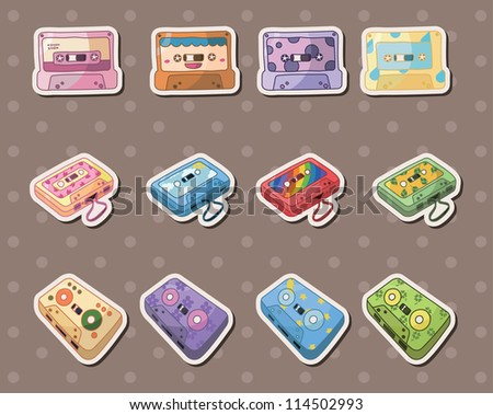 tape stickers - stock vector