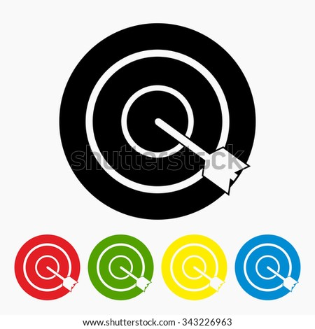 Target aim. Vector illustration.Different color. - stock vector