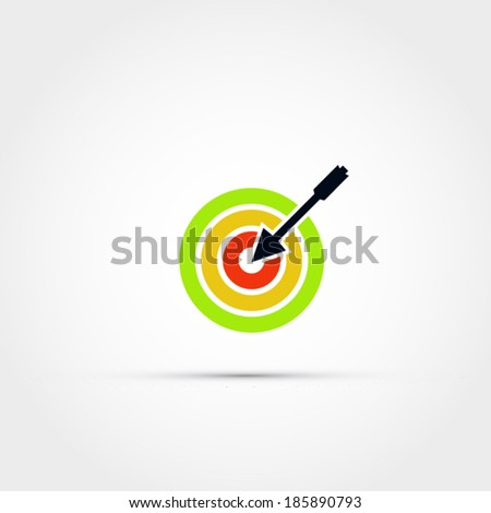 Target and arrow icon - stock vector