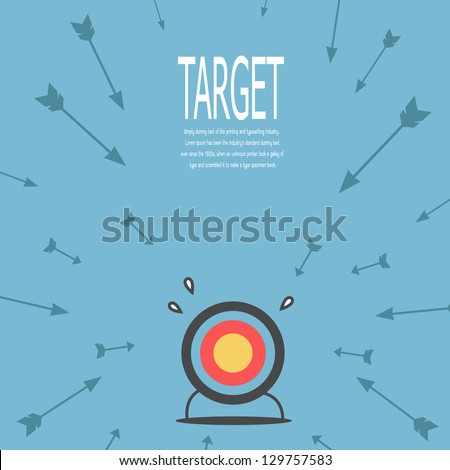 Target and arrow , vector - stock vector