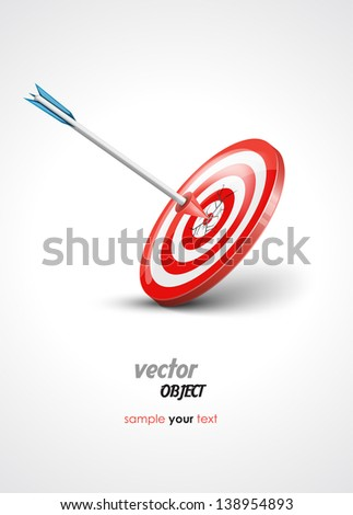 target and arrow - vector illustration - stock vector