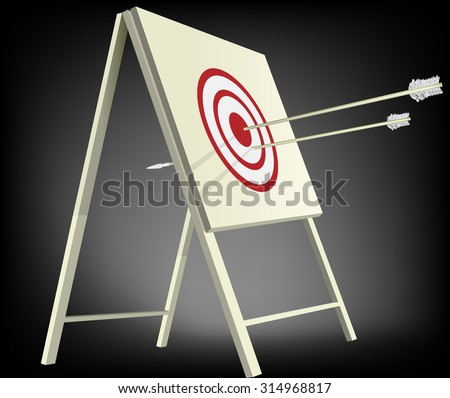 Target and arrows - stock vector