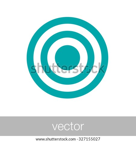 Target - Button - Stock Illustration - Target market concept icon - Target icon - stock vector