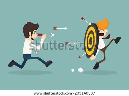 Target , eps10 vector format - stock vector