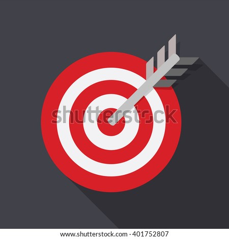 Target Flat Concept Icon Vector Illustration. Target Icon Image. Target Icon Sign. Target Flat Icon - stock vector