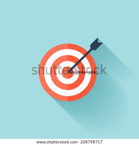 Target flat icon. - stock vector