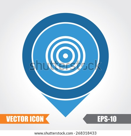 Target Icon On Map Pointer. Eps.-10. - stock vector