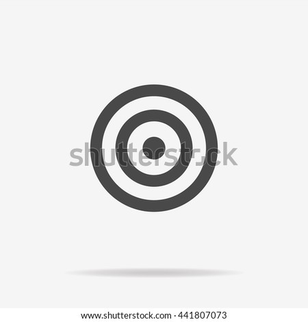 Target icon. Vector concept illustration for design. - stock vector