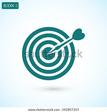 Target icon. Vector  Eps 10  - stock vector