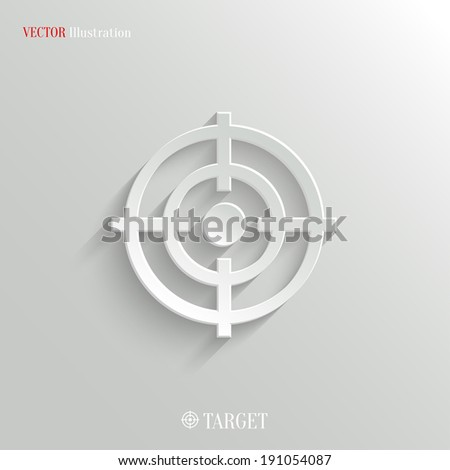 Target icon - vector web illustration, easy paste to any background - stock vector
