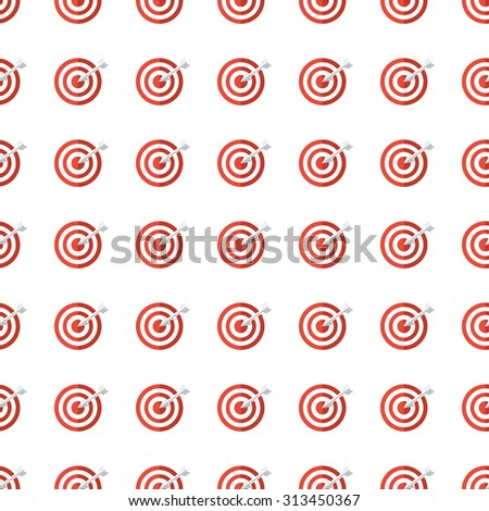 target vector icon seamless pattern, tiling ornament on white. - stock vector