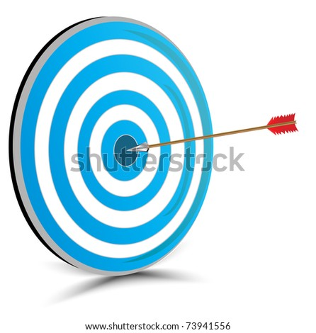 Target with arrow - stock vector