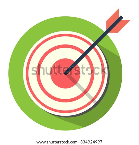 Target with arrow icon - stock vector