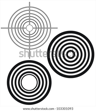 Targets - stock vector