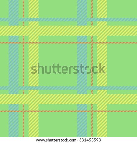 Tartan pattern. Scottish traditional fabric seamless vector. Colorful green, yellow and blue. Suitable for children, decoration paper, home, design, concept, clothing, handicraft & scrap booking. - stock vector