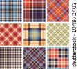 Tartan vector set - stock vector