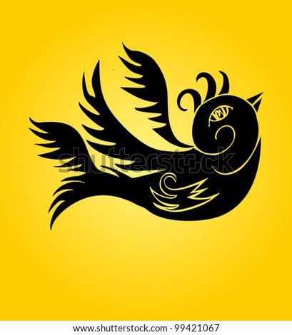 tattoo birds - stock vector
