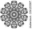 tattoo circular design - stock vector