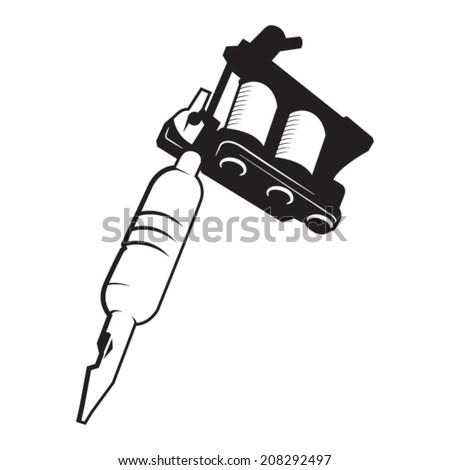 Tattoo Gun Logos Tattoo Gun Machine Vector