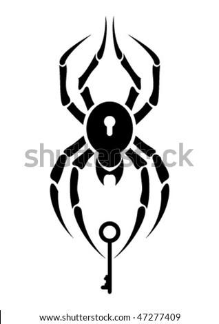Tattoo - spider - stock vector