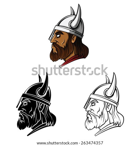 Tattoo Symbol Of Vikings set collection,isolated on white background.Vector illustration - stock vector