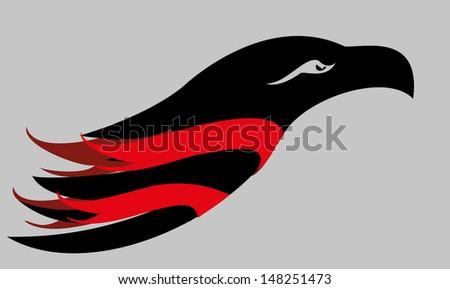tattoo tribal eagle vector art - stock vector