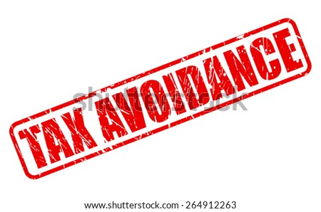 TAX AVOIDANCE red Rubber Stamp on white - stock vector