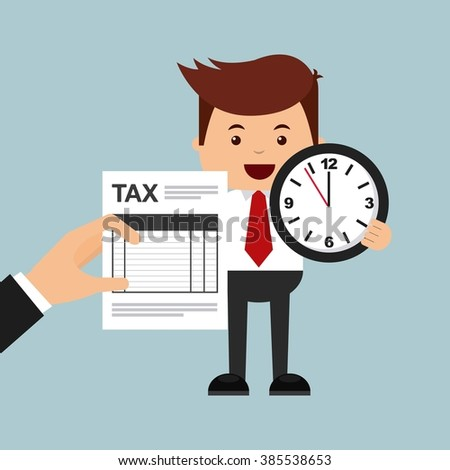 tax time design  - stock vector