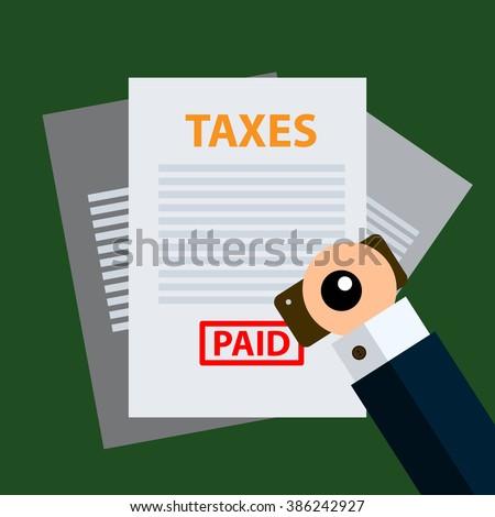 taxes icon design, vector illustrator. eps 10 - stock vector