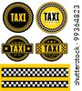 Taxi badge. Signs and labels. - stock vector