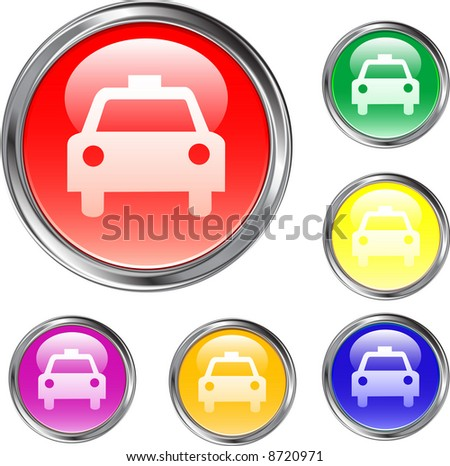 Taxi Buttons - stock vector