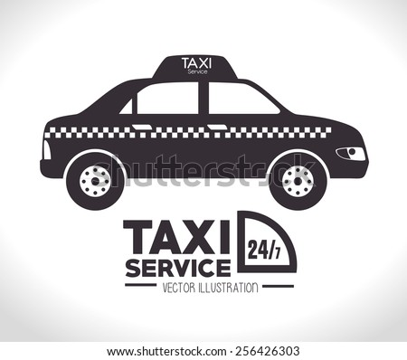 Taxi design over white background, vector illustration. - stock vector