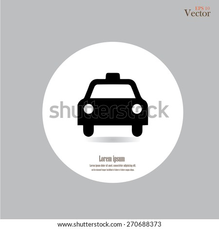 Taxi Icon.taxi icon vector.taxi.vector illustration. - stock vector