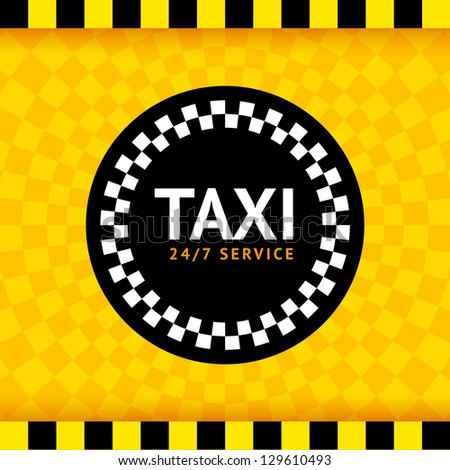 Taxi round symbol, vector illustration 10eps - stock vector