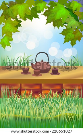 Tea ceremony.Menu - stock vector