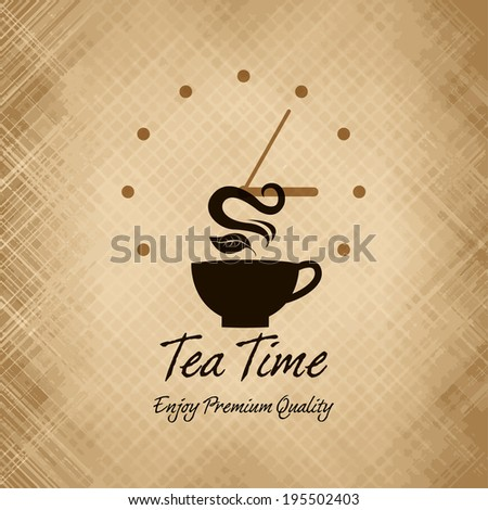 Tea time menu / Tea time party invitation / Menu for restaurant, cafe, bar, coffee house  - stock vector